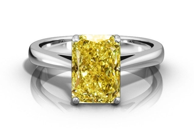 Elegant Fancy Yellow Radiant Diamond Engagement Ring DHRZ0531RAYD Image