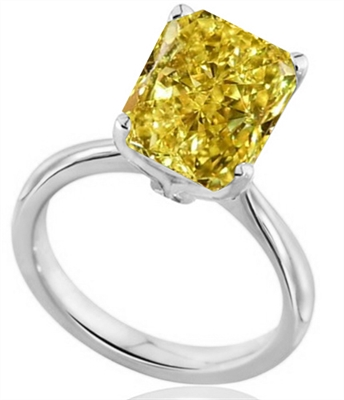 Elegant Fancy Yellow Radiant Diamond Engagement Ring DHDOMR1315RAYD Image