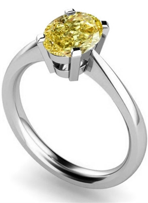 Fancy Yellow Oval Diamond Halo Shoulder Set Ring DHMTSS485YD Image