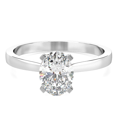 Classic Oval Diamond Engagement Ring DHMTSS859OV Image