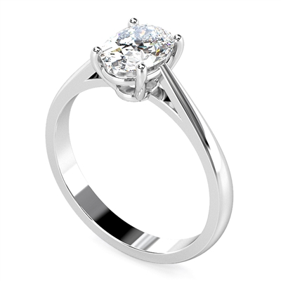 Classic Oval Diamond Engagement Ring DHRZ0539 Image