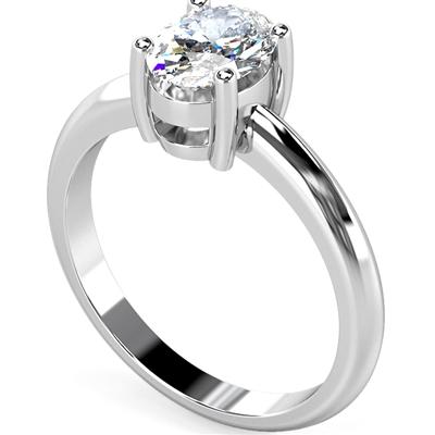 Knife Edge Oval Diamond Engagement Ring ER012 Image