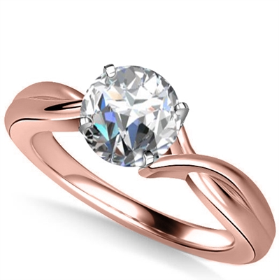Modern Intertwined Round Diamond Engagement Ring DHAN516RD Image