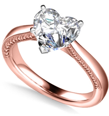 Heart Diamond Engagement Ring DHAN515HRT Image