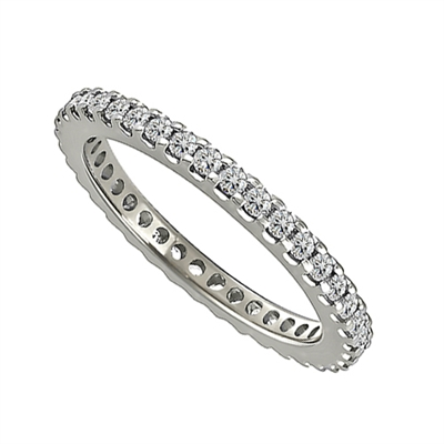 2mm Elegant Round Diamond Full Eternity Ring DHJXE00879FETPRND Image