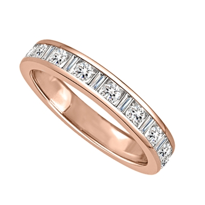 3mm Petite Round & Baguette Diamond Eternity Ring DHJXM00152HETCRDBG Image