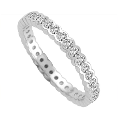 3mm Elegant Round Diamond Full Eternity Ring DHJRE00507A Image