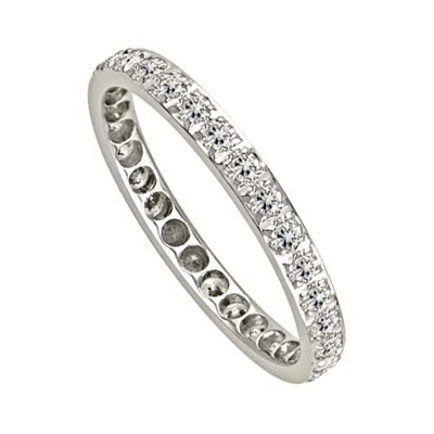 3mm Elegant Round Diamond Full Eternity Ring DHJXE01451FETPVRND Image