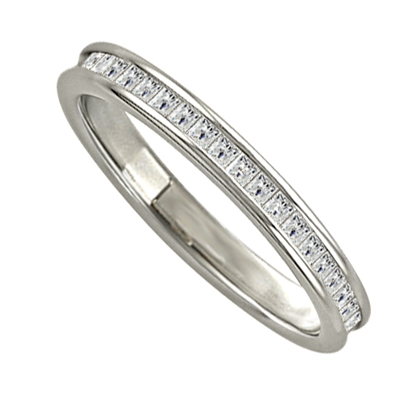 3mm Elegant Princess Diamond Full Eternity Ring DHJXE01002FETCPRN Image