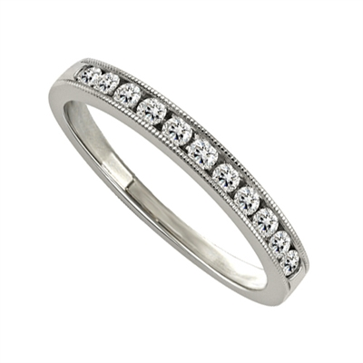 3mm Milgrain Round Diamond Eternity Ring DHJXM04035HETCRND Image