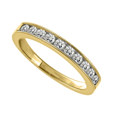 3.5mm Milgrain Round Diamond Eternity Ring DHJXM04039HETCRND Image
