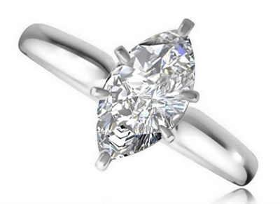 Marquise Diamond Engagement Ring DHRZ0718 Image