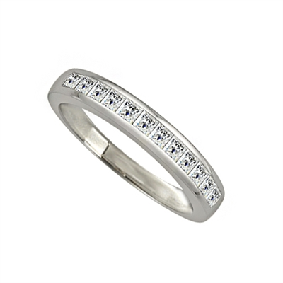 3mm Elegant Princess Diamond Eternity Ring DHJXM8033HETCPRN Image