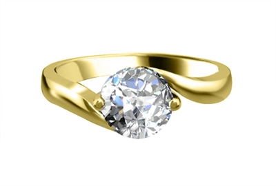 Round Diamond Engagement Ring DHRZ0033 Image