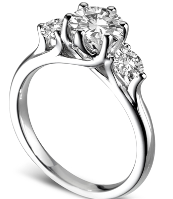 Modern Crossover Round Diamond Trilogy Ring DHDOMR31012 Image