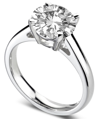 Round Diamond Engagement Ring DHDOMR12178 Image