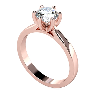 Modern Round Diamond Engagement Ring DHDOMR12160 Image