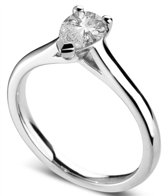Classic Pear Diamond Engagement Ring DHDOMR11164 Image