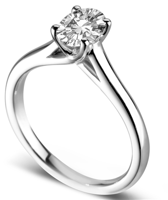 Elegant Oval Diamond Engagement Ring DHDOMR11162 Image