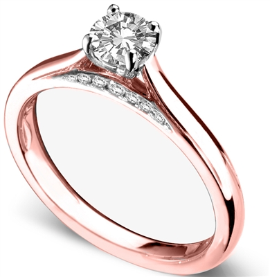 Elegant Round Diamond Engagement Ring DHDOMR11144 Image