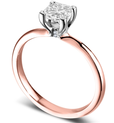 Modern Heart Claw Princess Diamond Solitaire Ring DHDOMR11141 Image