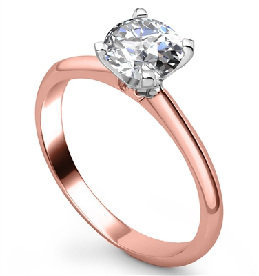 Knife Edge Round Diamond Engagement Ring DHRX5855 Image