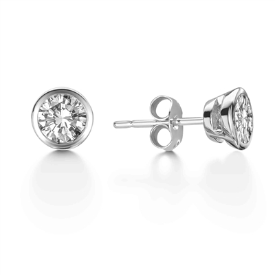 Modern Round Diamond Designer Earrings DHEX3671 Image