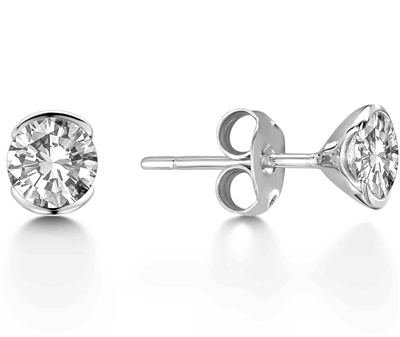 Modern Round Diamond Designer Earrings DHEX4021 Image