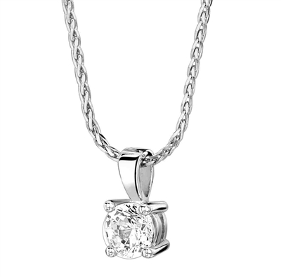 Traditional Round Diamond Solitaire Pendant DHPX3914 Image