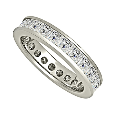 4.50CT Princess Diamond Full Eternity Ring DHJXE00459FETCPRN Image