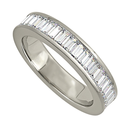 2.50ct Classic Baguette Diamond Full Eternity Ring DHJXE00499WDFETCBAG Image