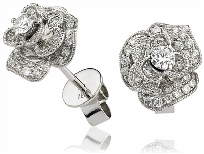 Classic Round Diamond Cluster Earrings DHLMJXYE3688 Image