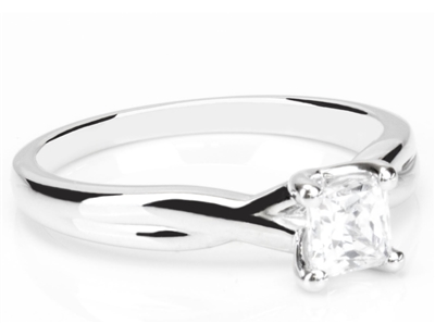 Modern Infinity Princess Diamond Engagement Ring DHDOMR11200 Image
