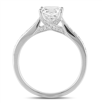 Round Diamond Shoulder Set Engagement Ring DHDOMDSX11RD Image