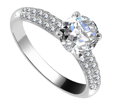 Unique Vintage Round Diamond Ring DHRX4200 Image