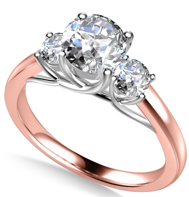 Unique Round Diamond Trilogy Ring DHAN500RD Image