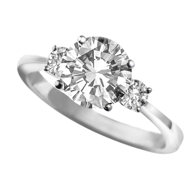 Unique Round Diamond Trilogy Ring DHAN06RD Image
