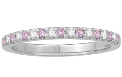 2mm Pink Sapphire and Diamond Eternity Ring DHJXMM487PS Image