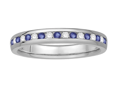 3mm Blue Sapphire and Diamond Eternity Ring DHMM490BS Image
