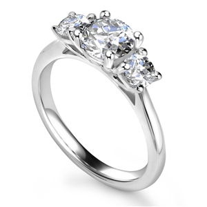 Three Stone Diamond Engagement Rings Trilogy Ring Diamond Heaven