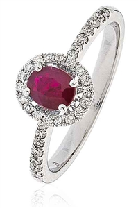 Image for Ruby & Diamond Cluster Ring