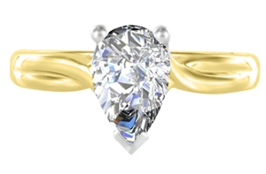 Image for Pear Diamond Infinity Twist Engagement Ring