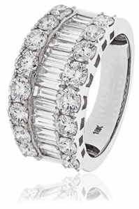 Image for Round & Baguette Diamond Dress Ring