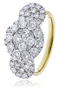 Image for 1.80CT Modern Cluster Round Diamond Dress Ring