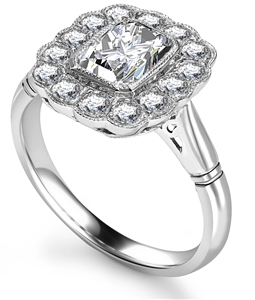 Emerald Cut Designer Diamond Rings