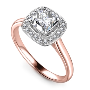 Image for Cushion Diamond Single Halo Ring