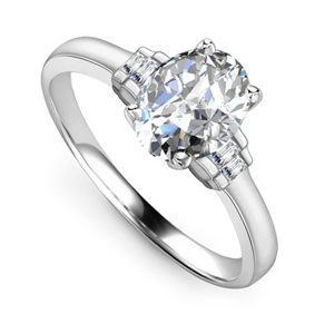Oval Designer Diamond Rings