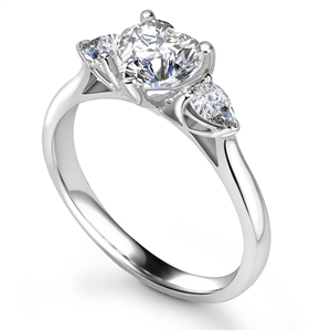 Image for Modern Heart & Pear Diamond Trilogy Ring