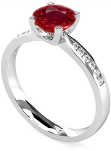 18ct White Gold Gemstone & Diamond Rings