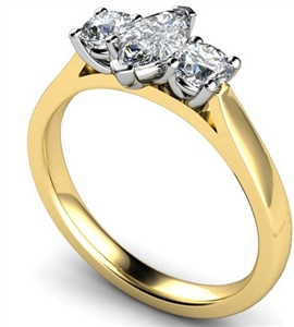 Image for Modern Marquise & Round Diamond Trilogy Ring